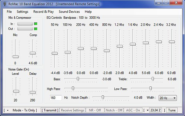 Full RoMac 10 Band Equalizer & DSP Receive screenshot